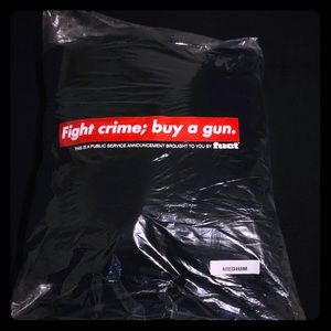 Fuct fight crime; buy a gun hoodie